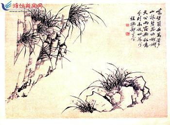 古风花纹画纸素材