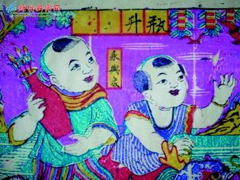 古代大门儿童画