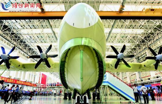 国产水陆两栖飞机ag600总装下线