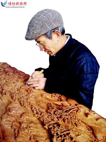 5厘米的红木雕刻《清明上河图》